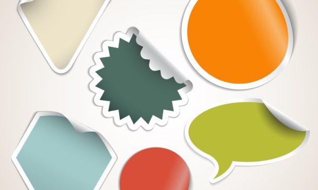 Pynt dine ting med klistermærker med logo
